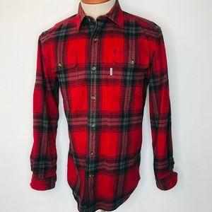 Carhartt Men's Flannel Shirt Heavy Original Fit M